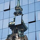 Old meets new Vienna by windmill