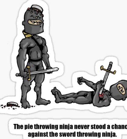 The Pie Throwing Ninja Sticker