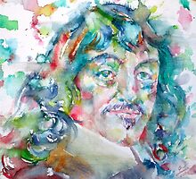 DESCARTES -watercolor portrait by lautir