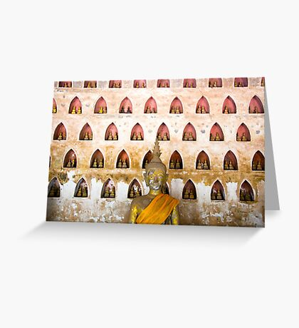 Thousand buddhas Greeting Card