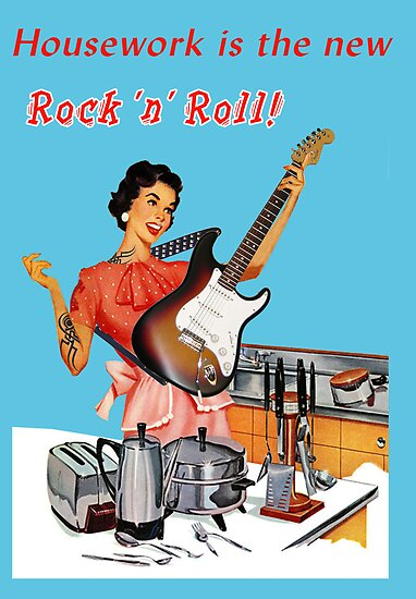 Rock 'n' Roll (Greetings Card) by LetThemEatArt