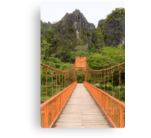 Vang Vien bridge Canvas Print