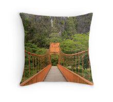 Vang Vien bridge Throw Pillow