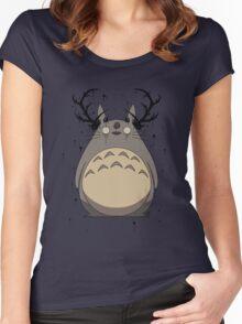 Totoro True Detective Women's Fitted Scoop T-Shirt