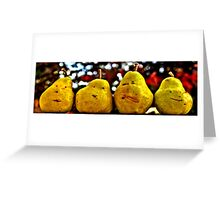 Two Pairs Four Pears Greeting Card