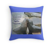 Seal Love: In the Same Direction Throw Pillow