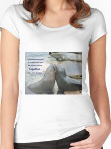 Seal Love: In the Same Direction Women's Fitted Scoop T-Shirt
