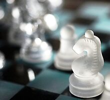 Knight's move: Chess still-life by Richard Flint