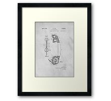 Telephone Patent Art Framed Print