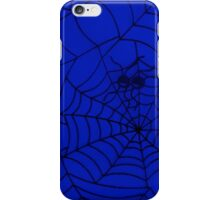 Spider Web, Spider Net, Cobweb - Blue Black  iPhone Case/Skin
