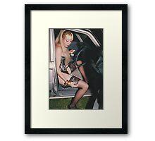 Portrait of Artist, 1990.  Framed Print