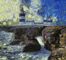 Starry Starry Hook Head Lighthouse by Nigel R Bell