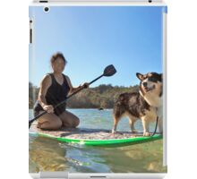Happy Pup Paddle Boarding iPad Case/Skin