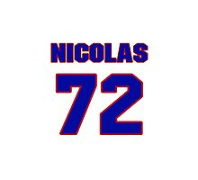 National Hockey player Nicolas Blanchard jersey 72 Photographic Print