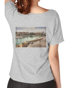 Heraklion Old Port Women's Relaxed Fit T-Shirt
