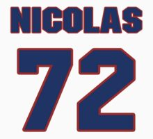 National Hockey player Nicolas Blanchard jersey 72 by imsport