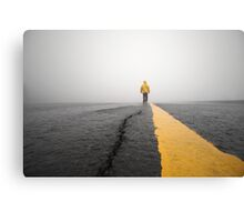 Storm Chaser Walking Down Road Canvas Print