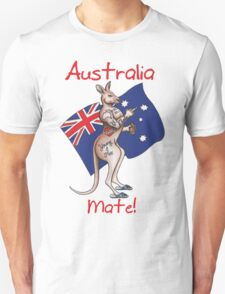 Australia Mate Flip Off Salute Tattooed Roo Design T-Shirt