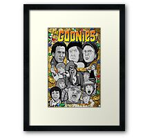 the Goonies collage Framed Print