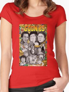 the Goonies collage Women's Fitted Scoop T-Shirt