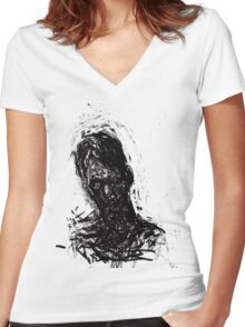 Small, Awkward & Intimate #1. Women's Fitted V-Neck T-Shirt