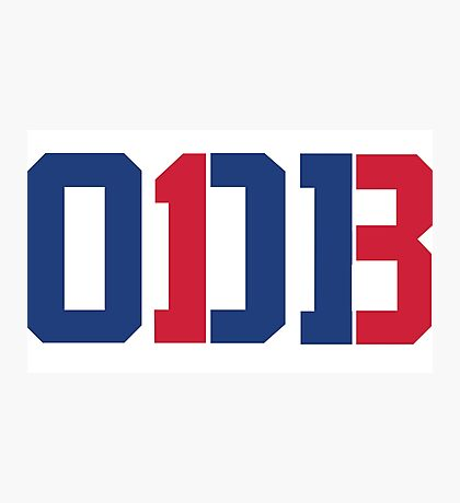 Odell Beckham Jr.   ODB 13 (Red/Blue Colorway) Photographic Print