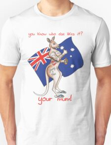 Your Mum Thumbs Up Australia Tattooed Roo Design T-Shirt