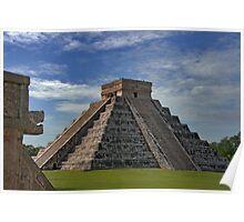 The Kukulcán Pyramid or El Castillo (The Castle) - Chichen Itza Poster