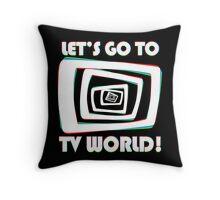 TV World White Throw Pillow