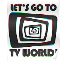 TV World Black Poster