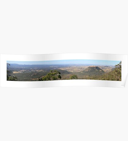 Panoramic 3 - Picnic Point Toowoomba Poster