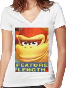 Feature Length Women's Fitted V-Neck T-Shirt