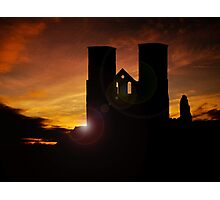 Twin towers Reculver Photographic Print