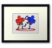 Air Hockey Brawl Framed Print
