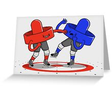 Air Hockey Brawl Greeting Card