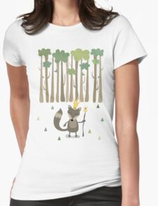 The King of the Wood Womens Fitted T-Shirt