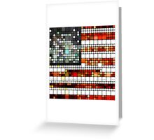 Retro Abstract American Flag Greeting Card