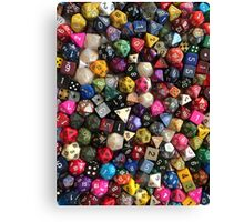 All the dice Canvas Print