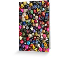 All the dice Greeting Card