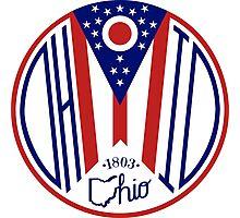 Deco Ohio Seal Photographic Print