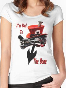 Bad To The Bone Women's Fitted Scoop T-Shirt