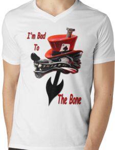 Bad To The Bone Mens V-Neck T-Shirt