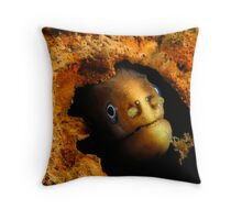 Moody Moray Throw Pillow