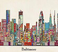 Baltimore Maryland skyline by bri-b