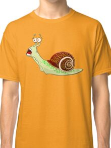 Scared Snail Classic T-Shirt