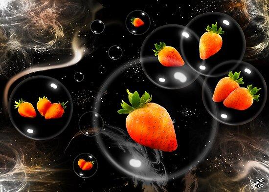 space strawberries  by dimarie