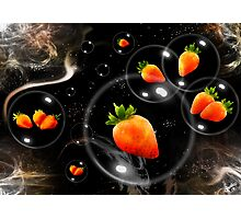 space strawberries  Photographic Print