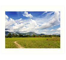 Rural Laos Art Print