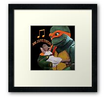 MM...I LOVE TURTLES...SO HAPPY TOGETHER...SELF HUMOUR PICTURE Framed Print