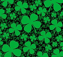 A Shamrock Field for St Patrick's Day by Garaga